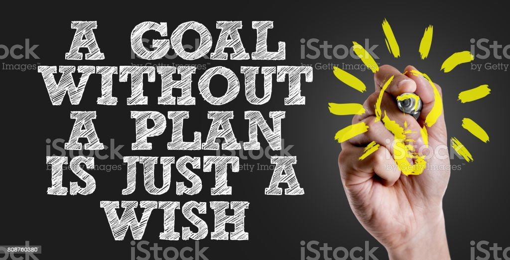a Goal without a Plan is Just a Wish stock photo
