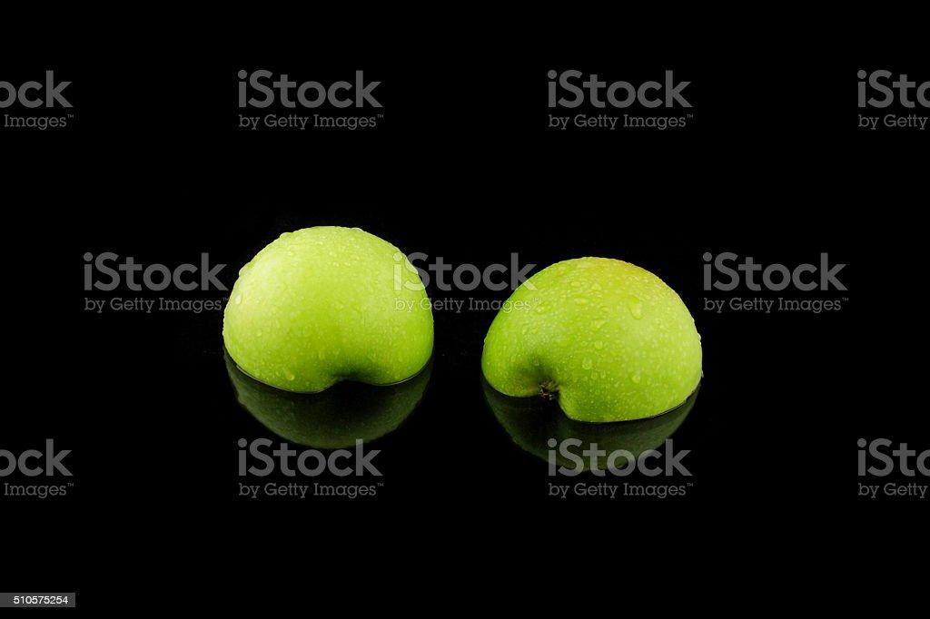 ein grüner Apfel stock photo