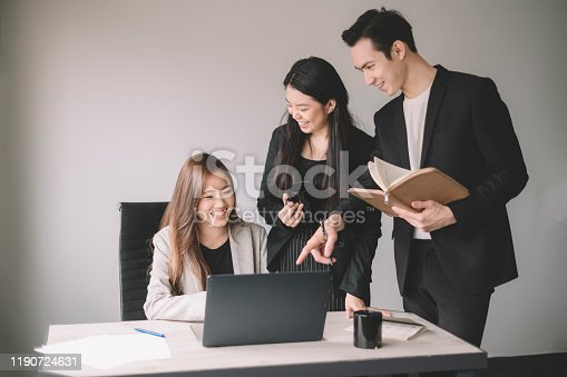 905746192 istock photo a group of coworker having discussion and brainstorming in the office boardroom 1190724631
