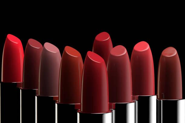다양 한 색상의 립스틱의 그룹 - 립스틱 뉴스 사진 이미지