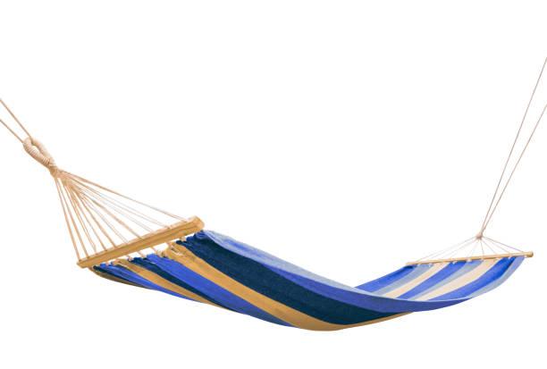 a hammock isolated on white background - amaca foto e immagini stock