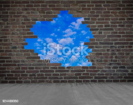 istock a hole in the wall 924469350