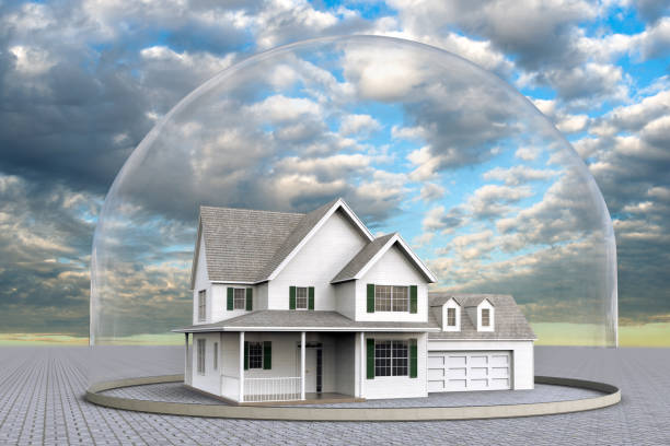 a house inside a dome - trap house stock pictures, royalty-free photos & images