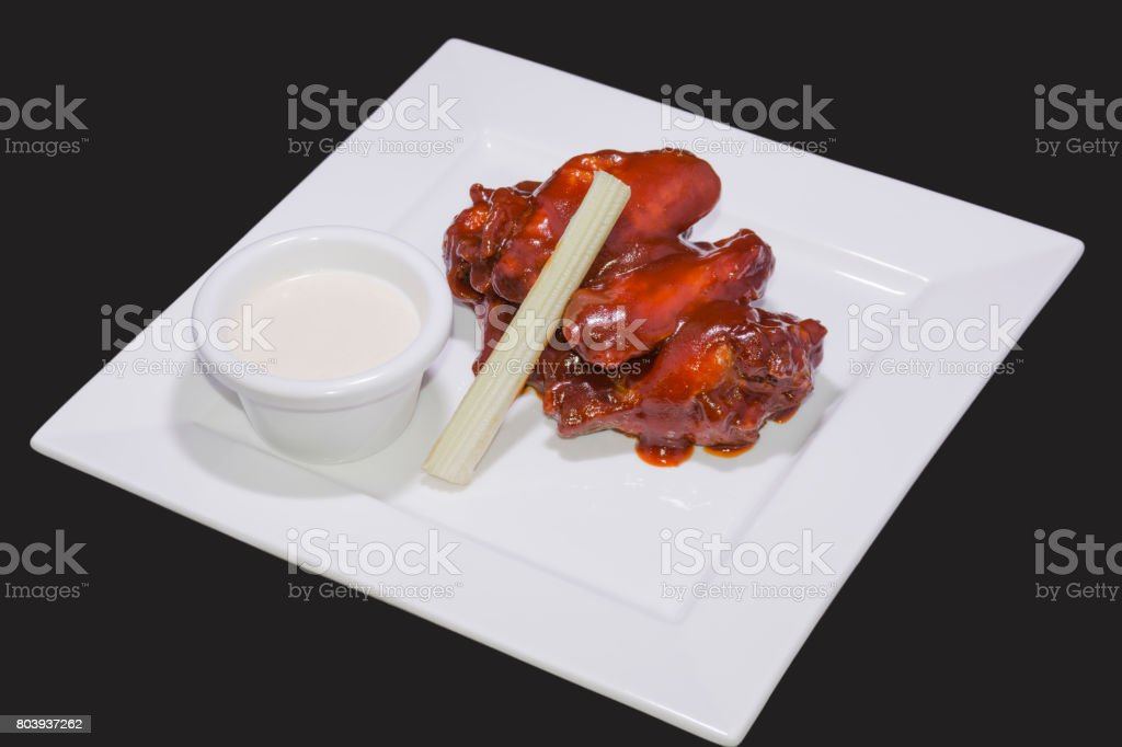 a kind of chicken with an american sauce stock photo