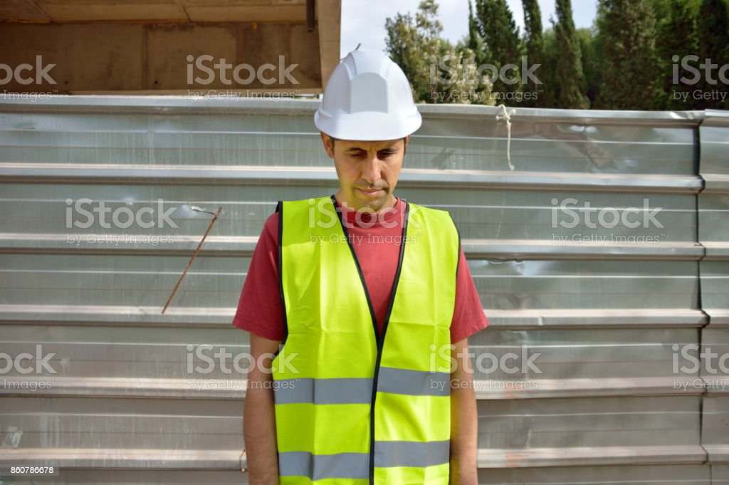 a laid off worker stock photo