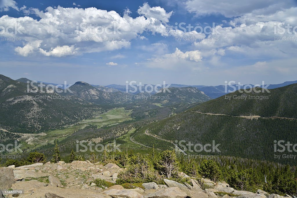 a landscape view of the Rocky Mountain National Park royalty-free stock photo
