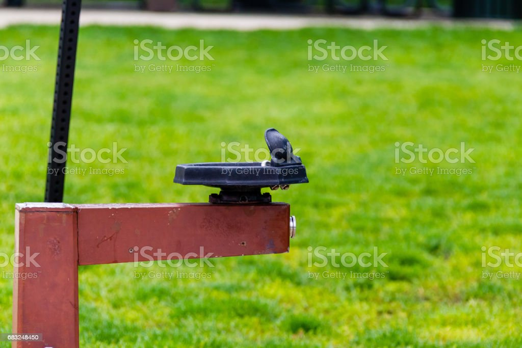 a lonely water fountain in a public park 免版稅 stock photo