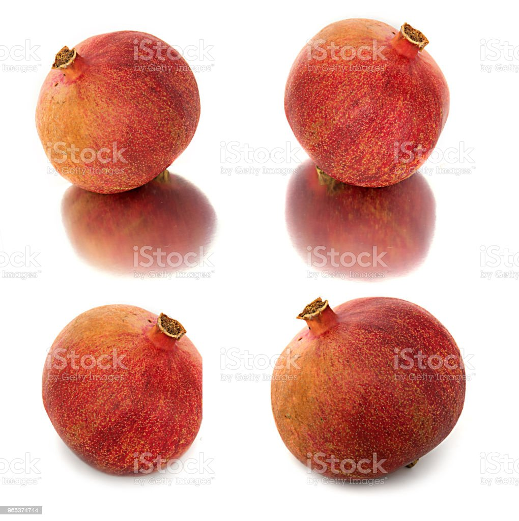 a lot of different garnets. beautiful, juicy, ripe pomegranate on white background, juicy and bright Garnet without background, zbiór zdjęć royalty-free