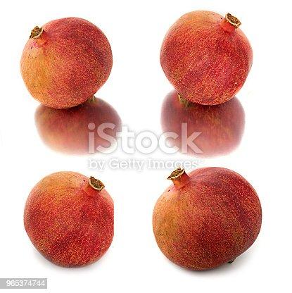 A Lot Of Different Garnets Beautiful Juicy Ripe Pomegranate On White Background Juicy And Bright Garnet Without Background - Stockowe zdjęcia i więcej obrazów Biały