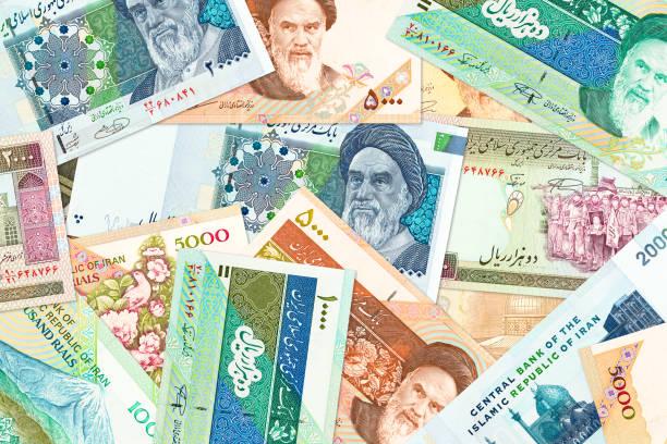 viele iranische Rial Banknoten – Foto