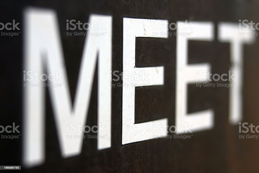 a  MEET  sign royalty-free stock photo