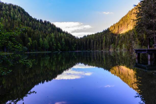 eine Spiegelung Teich am Morgen – Foto