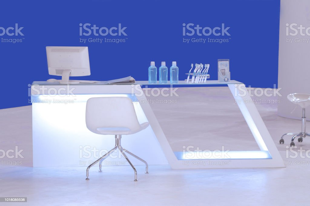 einen modernen Zähler für Zahnpflege-Stand – Foto