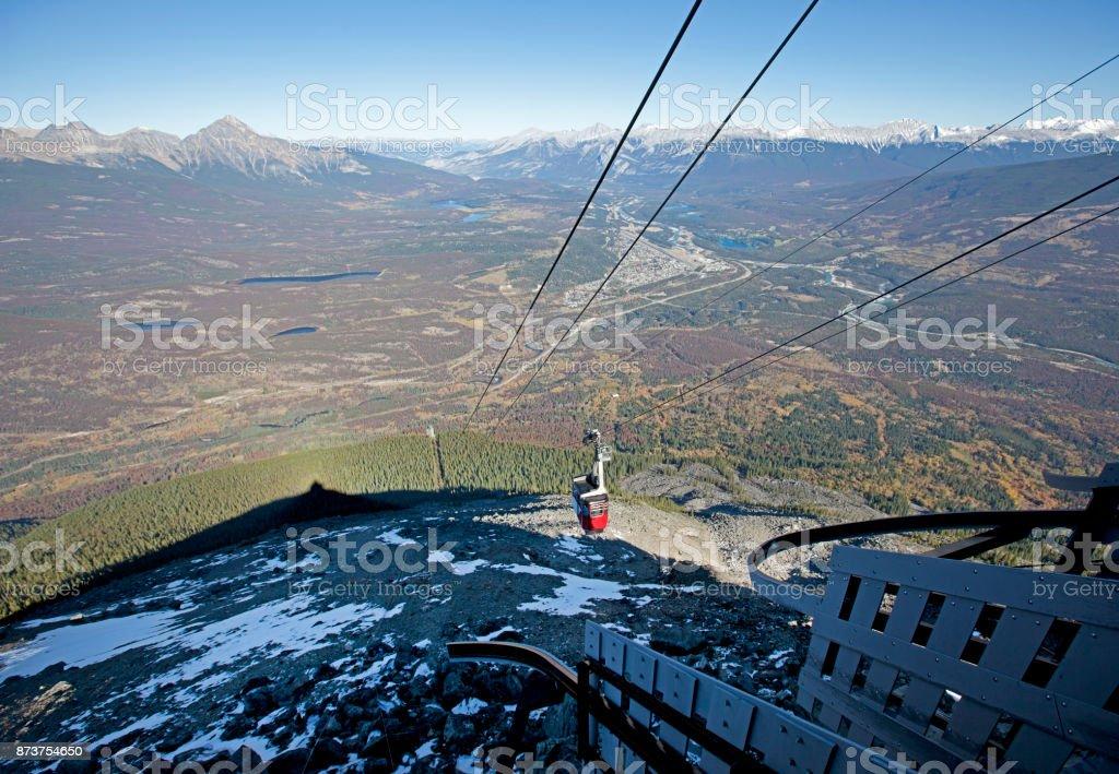 a mountain skytram stock photo