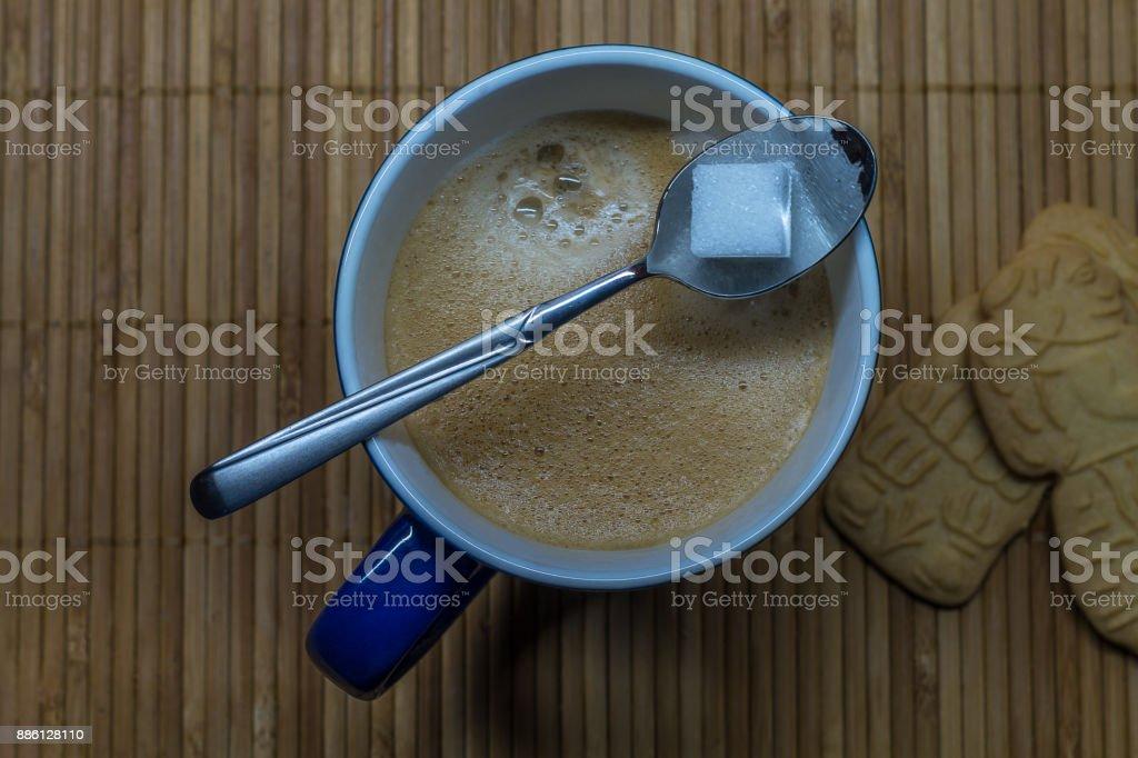 a mug of coffee stock photo