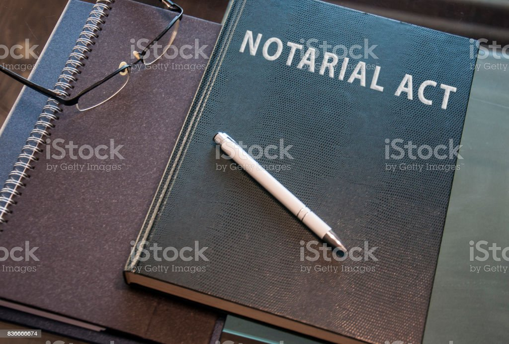 a notarial act ready to be signed stock photo