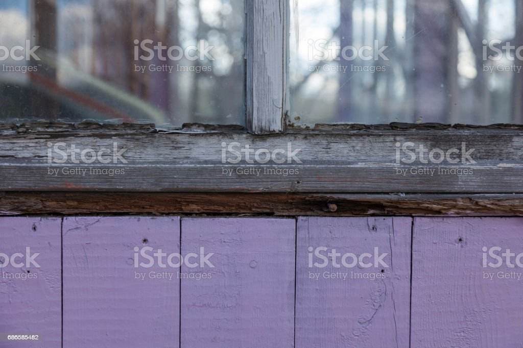 a old colored wooden boarded wall royalty-free stock photo