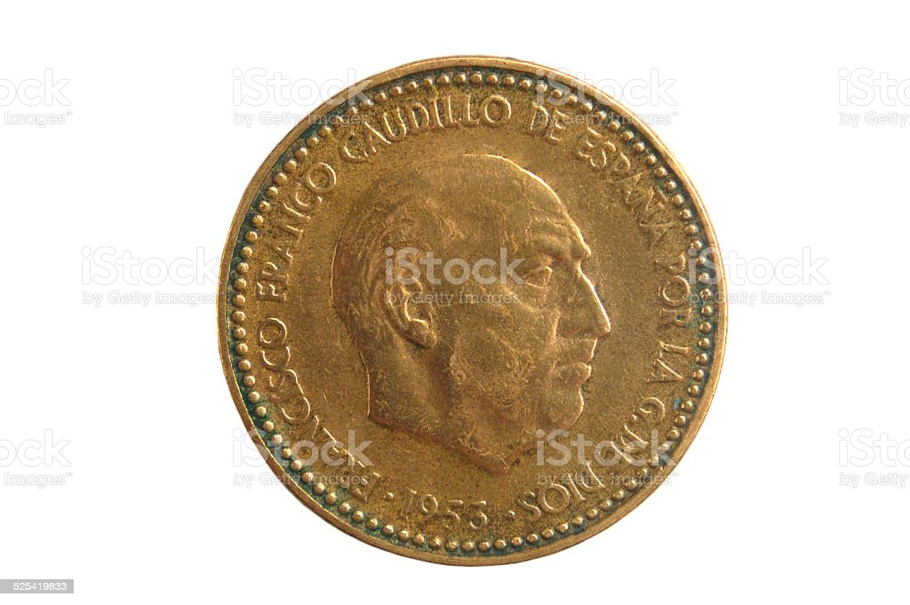 una peseta Francisco Franco stock photo