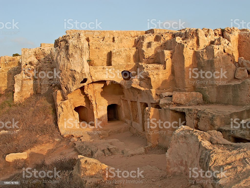 a photo of Archaeological locality in Pafos, Cyprus royalty-free stock photo