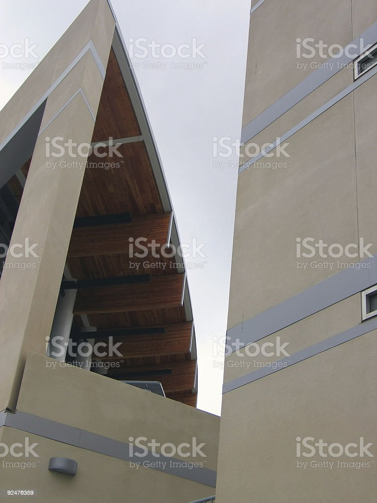 a piece of a building royalty-free stock photo