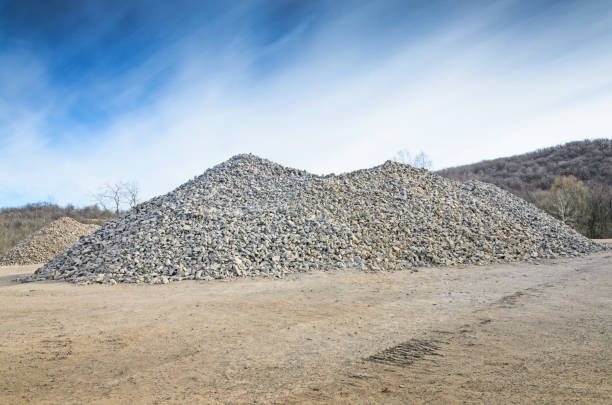 a pile of gravel
