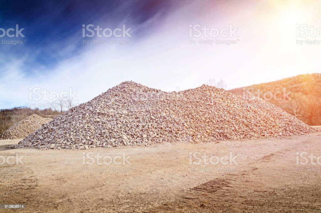 a pile of gravel stock photo
