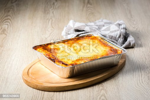 istock a portion of lasagna straight from the oven 953243900
