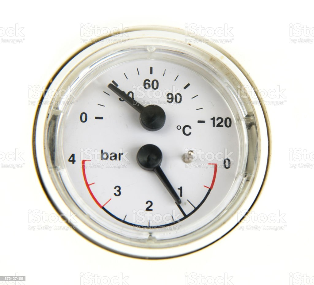 a pressure meter gauge stock photo