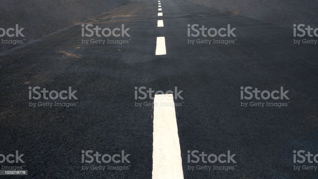 POV of a racing track stock photo