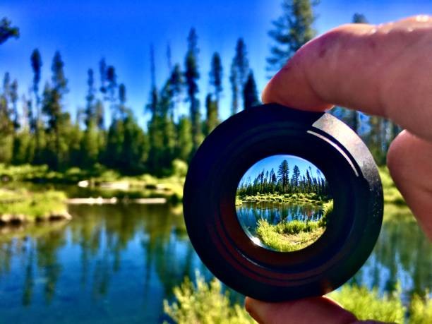 a river through the lens - pov perspective deschutes national forest, fall river, bend, or samuel howell stock pictures, royalty-free photos & images