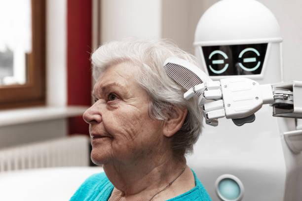 A robotic caregiver is combing the hair of a female senior adult picture id1168897866?b=1&k=6&m=1168897866&s=612x612&w=0&h=hxlnijmoovxeuqwq6tzdiwb wqongfck5nrlxbmq2es=