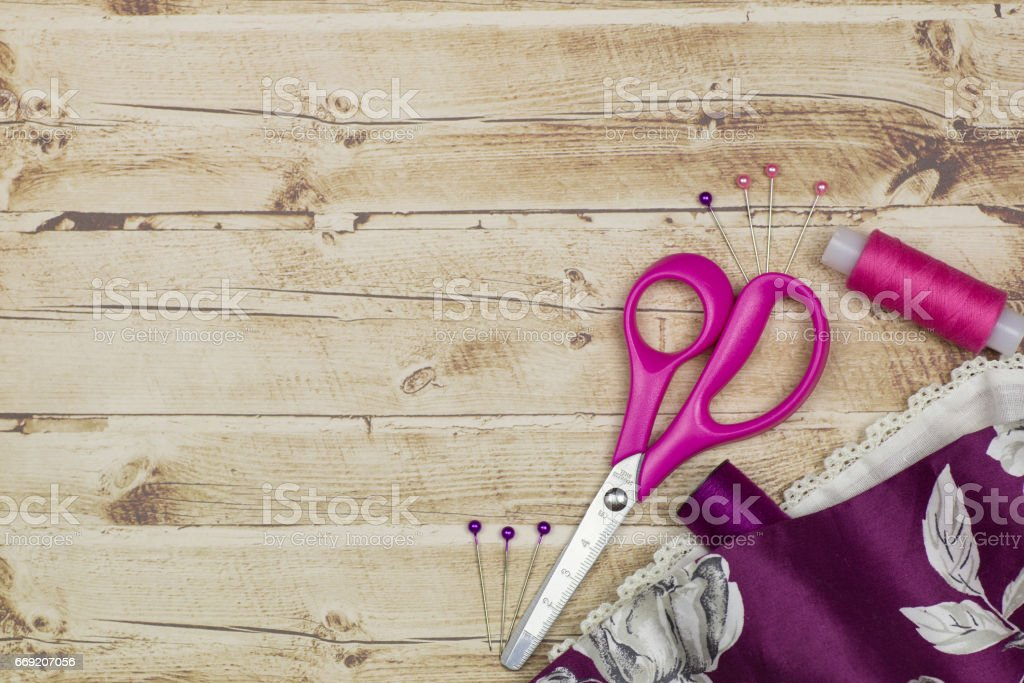 a set of tools for tailor stock photo