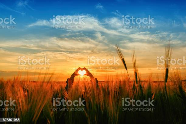 Photo of a silhouette heart
