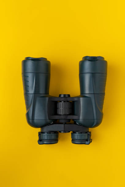 a simple abstract binocular on the color background on color background stock photo