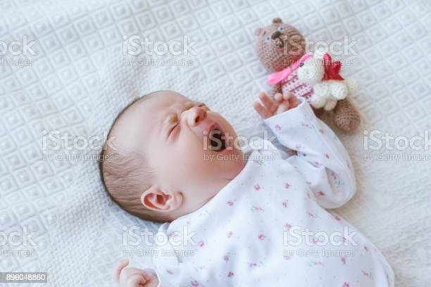 A sleepy newborn is yawning sweetly on the bed picture id896048860?b=1&k=6&m=896048860&s=612x612&h=024orcw5dxqywl ufkpljwth ckogs2xoobdcws68so=