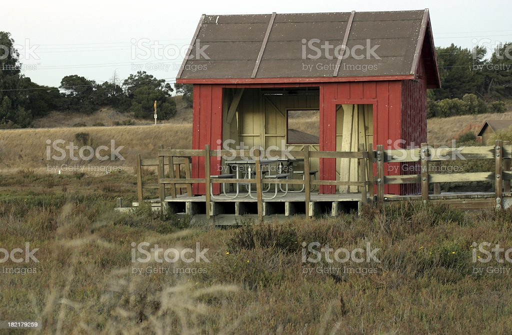 a small barn - country house royalty-free stock photo