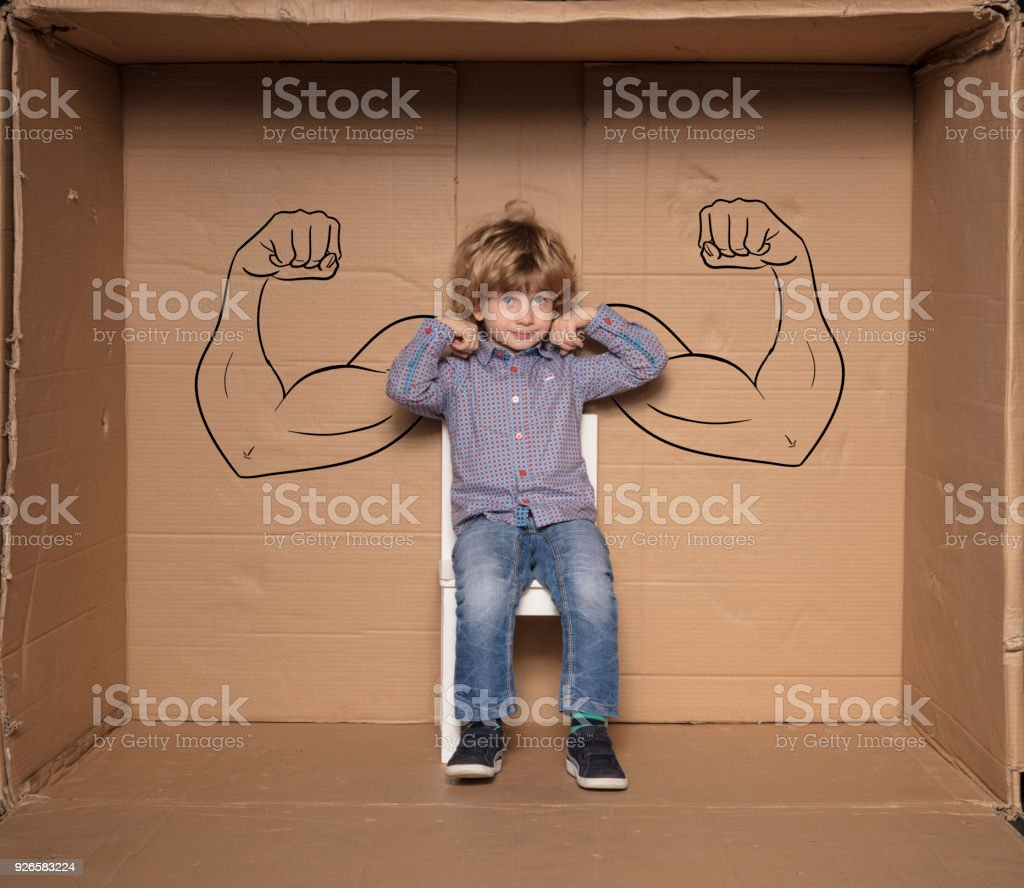 a small businessman shows his strengths during a job interview stock photo