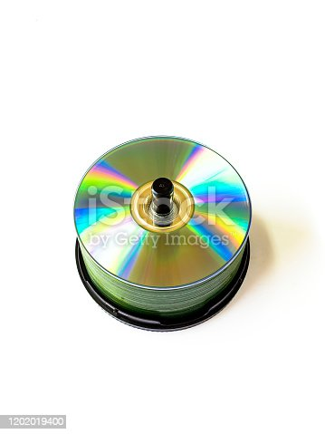 a stack compact disc CD and DVD, Cd, dvd, blue ray disk, disk