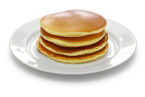 a stack of pancakes - pancake foto e immagini stock