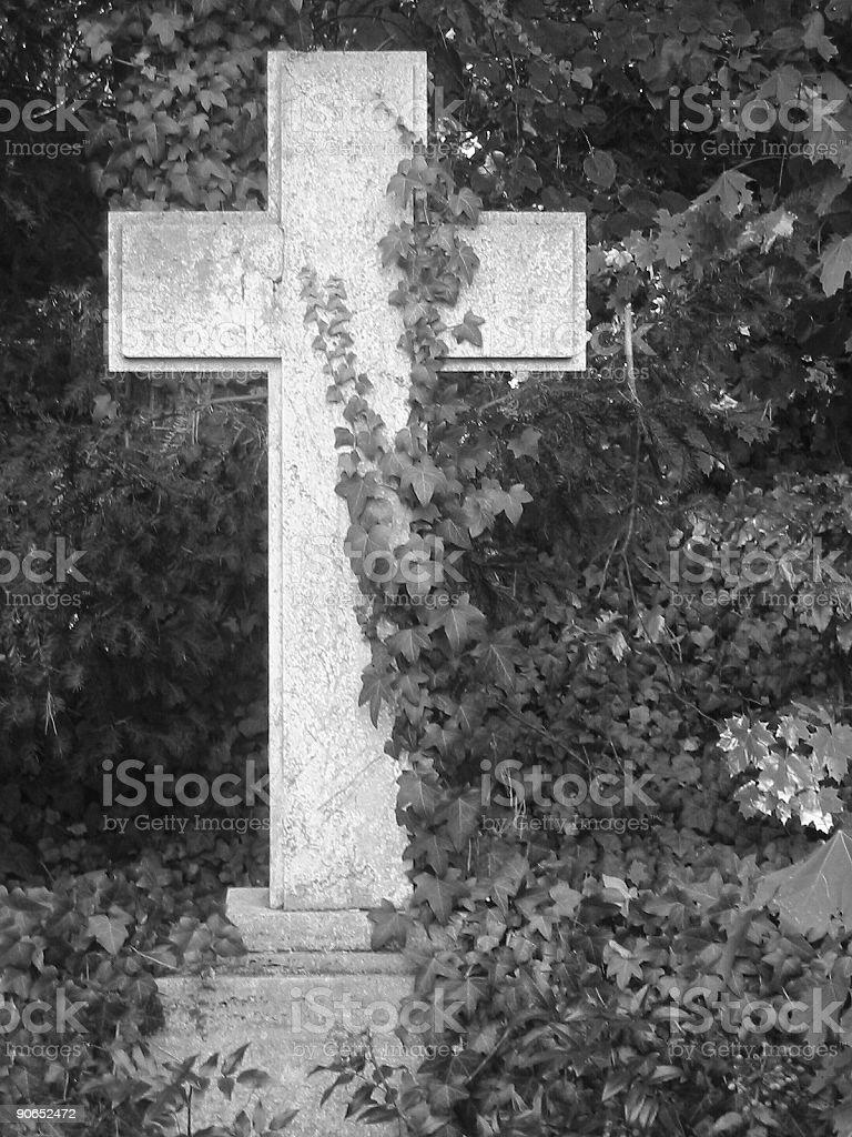 a stone cross royalty-free stock photo