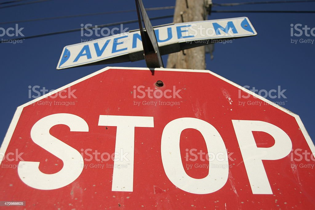 a STOP sign at intersection royalty-free stock photo