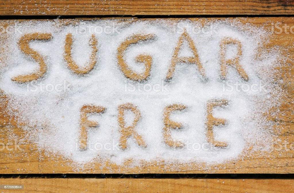 a sugar free word with background stock photo