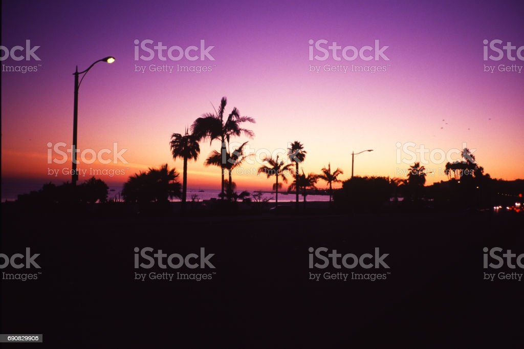 a sunset from Santa Barbara stock photo