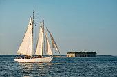 a Tall ship in the Casco Bay in Portland, Maine