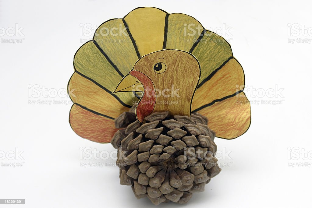 a thanksgiving craft - kid crafting royalty-free stock photo