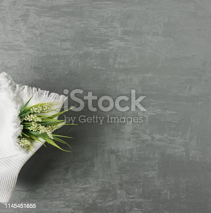 1164403347 istock photo a towel on gray background 1145451655
