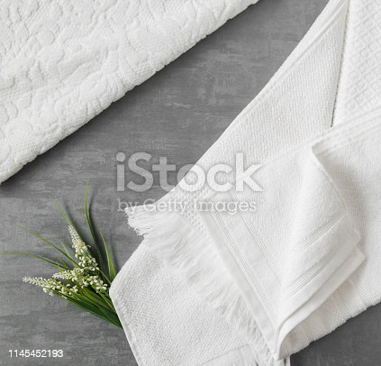 1164403347 istock photo a towel on gray background 1145452193