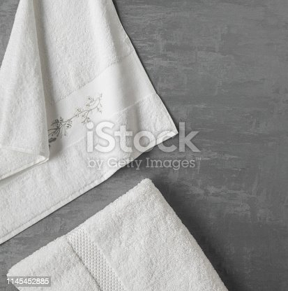 1164403347 istock photo a towel on gray background 1145452885