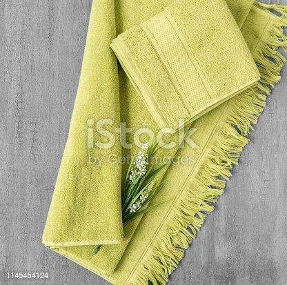 1164403347 istock photo a towel on gray background 1145454124