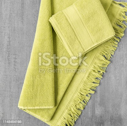1164403347 istock photo a towel on gray background 1145454193